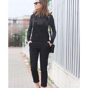 🔥 Zara• Overalls Heritage Denim Black